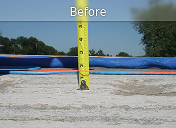 Before leveling Scottsdale roadway with PolyLevel®