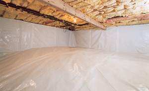 Crawl Space Moisture Barrier After in Mesa