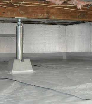 Installed crawl space insulation in Yuma