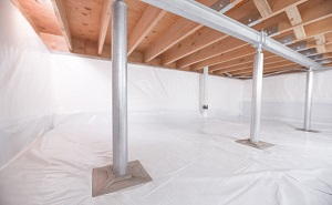 Crawl space structural support jacks installed in Goodyear