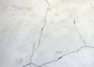 cracks in a slab floor consistent with slab heave in Bullhead City.