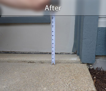 Phoenix concrete walkway repair & leveling