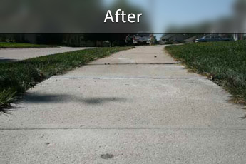 After photo of PolyLevel® concrete sidewalk repair in Phoenix