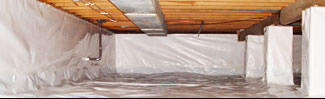 an encapsulated crawl space system in Payson